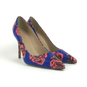 JCrew Roxie Printed Leather Pumps